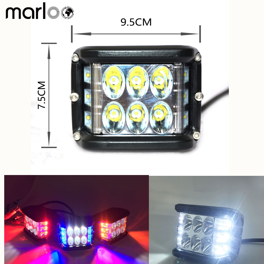 Marloo 4 LED Fog Driving Work Light for Jeep Wrangler Ford F-150 Raptor GMC Sierra Chevy Silverado SUV ATV UTV 4WD 4X4 Vehicles