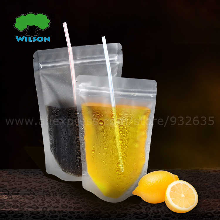 100 -1000 PCS (Opening 9cm -16cm) Mat Plastic Frosted Clear Full Zip Lock Stand Up Bags Fruit Juice Drink Bags Food Storage