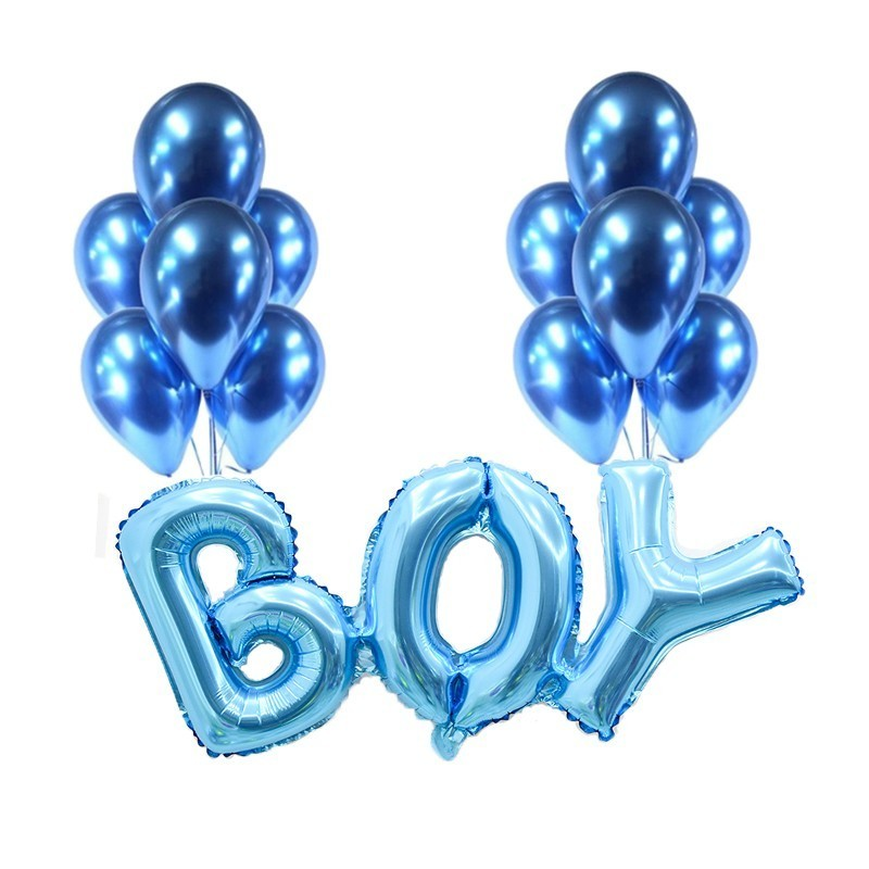 13pcs Latex balloon baby shower Boy girl letter balloon birthday party  decoration child  Gender Reveal ballon