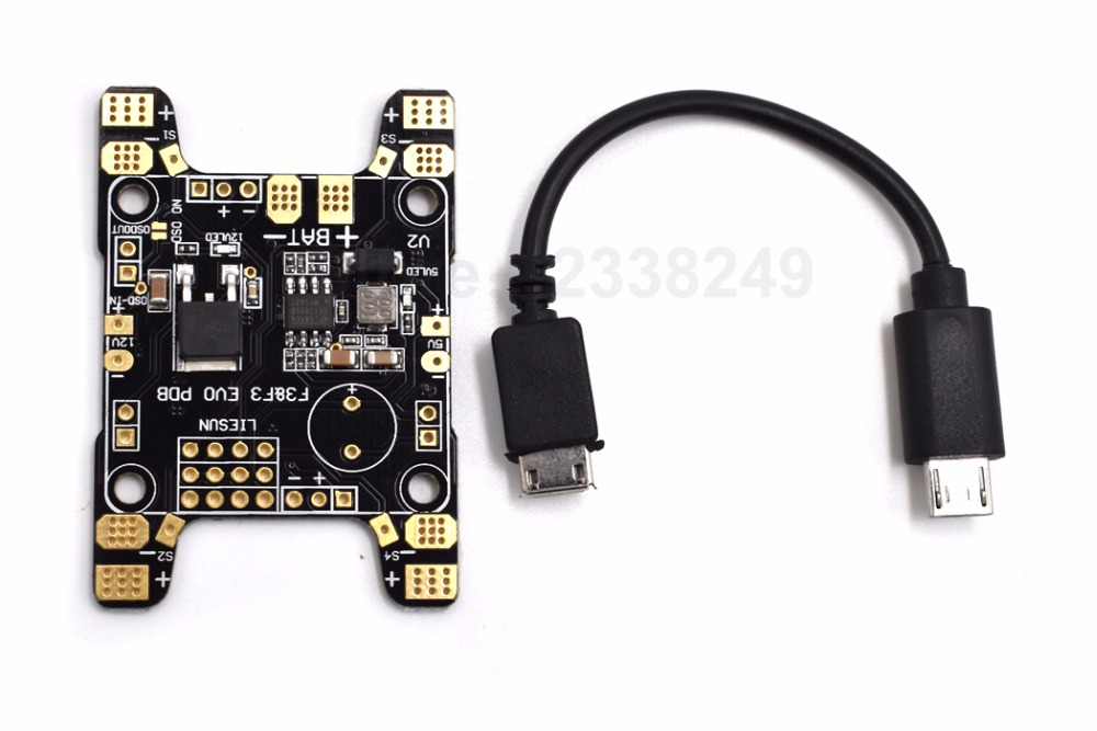 F3 F3 EVO PDB Power Distribution Board with 5V 12V BEC PCB for SP Racing F3