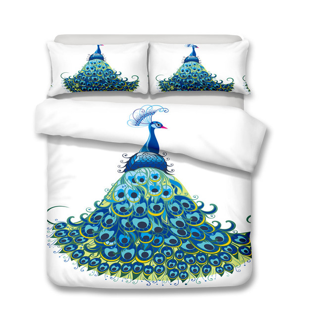 Peacock Bedding Set