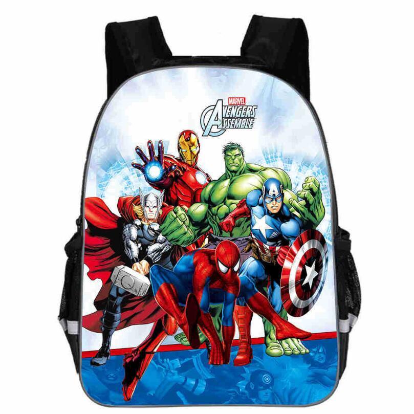 284041589060b4 13 Inch Avengers Iron Man Backpacks Captain America Hulk Thor War School  Bags Daily Travel Bag Boys Girls Double Shoulder Bags