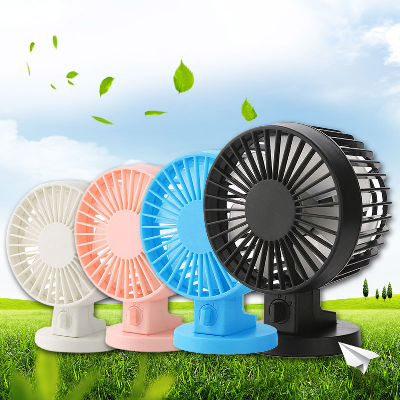 New Portable Mini USB Desk Fan Creative Home Office Desktop Fan With Double Side Fan Blades