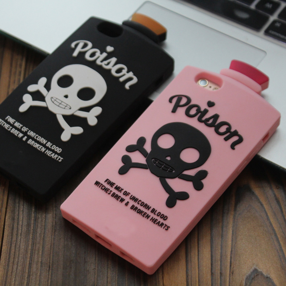 New 3D Skull Potion Soft Silicone <font><b>Phone</b></font> Back Case Cover Skin For iPhone 5 5S <font><b>5C</b></font> SE 6 6S 6 Plus 6S Plus 7 8 Plus Fundas <font><b>Coque</b></font>