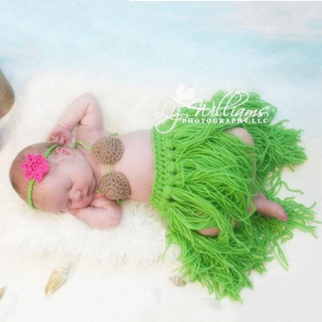 Newborn Baby Photography Props girl Boy Animal Pants Knit Hat Set Cute Baby Hand Made Crochet Costume Photo Shoot Clothes  2
