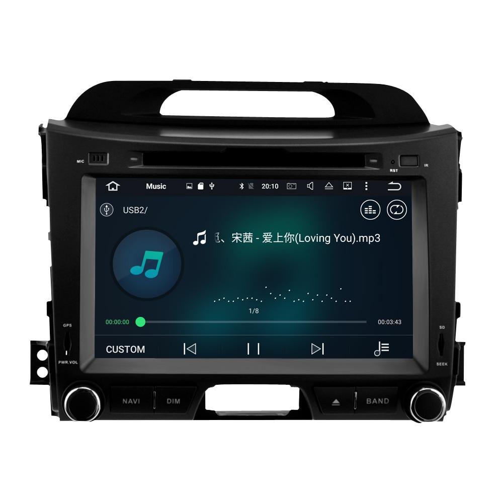 Image 4 - 4G ram ips экран Android 9,0 автомобильный стерео для Kia Sportage 2009 2015 автомобильный DVD плеер Автомобильный FM Мультимедиа вайфай gps навигация-in Мультимедиаплеер для авто from Автомобили и мотоциклы