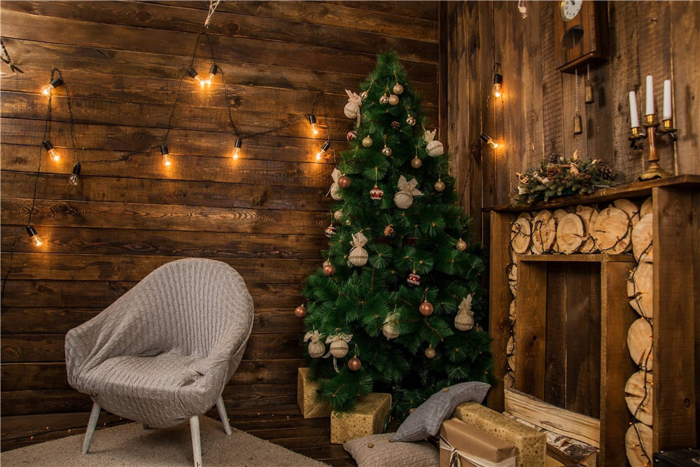 Christmas Tree Photo Backdrops Wooden Vinyl Studio Photography Props Background for Baby 7x5ft or 5X3ft Christmas115 custom photography background christmas vinyl photografia backdrops 300cm 400cm hot sell photo studio props baby l824