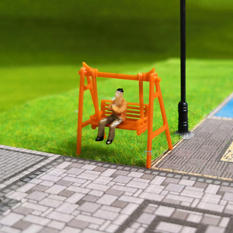 1/87 HO Scale Model Park Swing Bench/Mini Bench Model Miniature Parks Home Crafts Gardens Ornament/Train/Railway/Railroad Layout