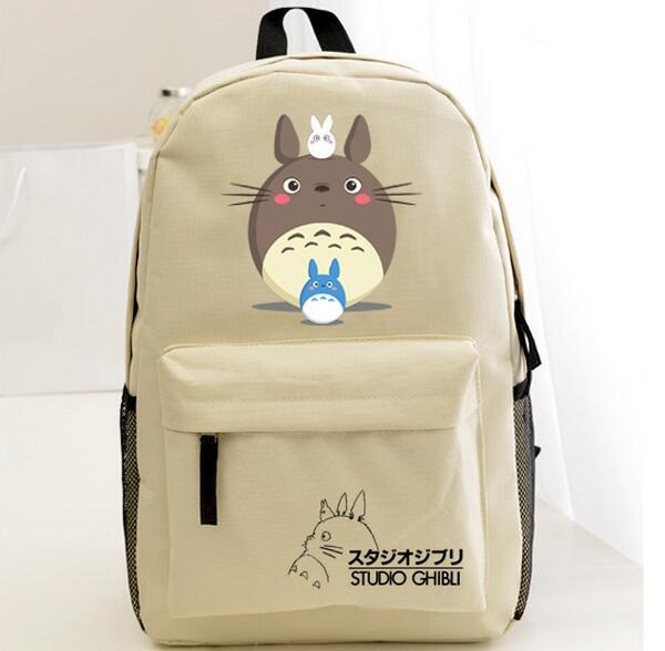 Letters Printed Cute Totoro Backpacks Teenagers Canvas Backpack New 2017 Japanese Anime Cartoon Bookbags Free Shipping handueke new 2017 genuine leather gladiator sandals summer beach shoes woman fashion wedges platform sandals women casual shoes