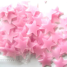 Fashion 100PC Kids Bedroom Fluorescent Glow In The Dark Stars Wall Stickers Living room 3D drop shipping