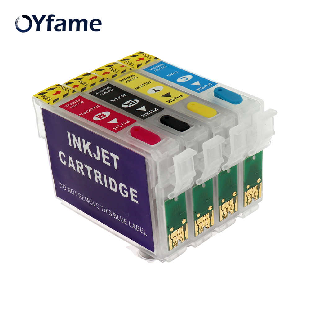 Oyfame 71 T0711 Isi Ulang Tinta untuk Epson Stylus DX7400 DX7450 DX8400 DX8450 DX9400F S20 S21 SX100 SX110 SX105 Printer