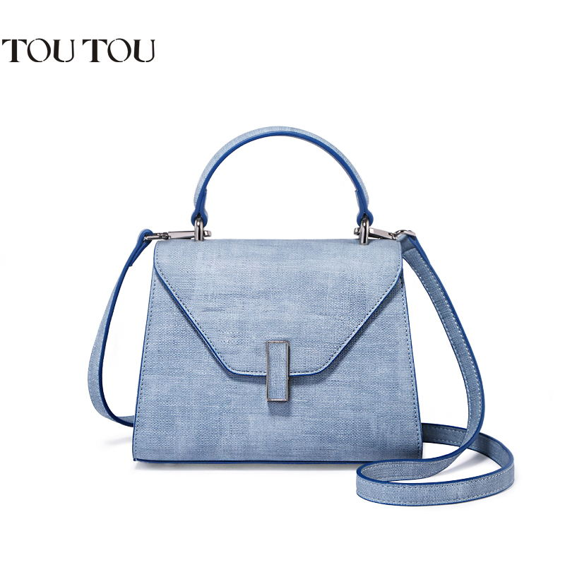 TOUTOU handbag In 2018 the new female bag shoulder bag cowboy joker contracted inclined shoulder bag handbag Free shipping free shipping 2014 boom bag leisure contracted one shoulder bag chain canvas bag page 3