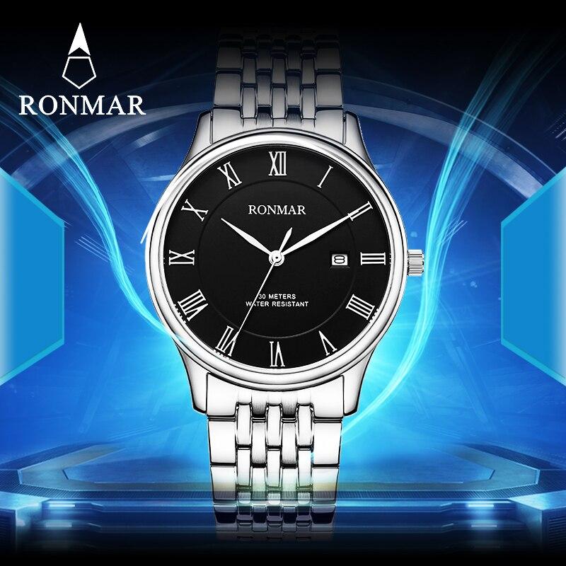 ФОТО 2017New Quart Watch Brand Luxury Stainless Steel Men's WatchRM8005G Gift Watch Quartz Wristwatch Relogio Masculino De Luxo uhren
