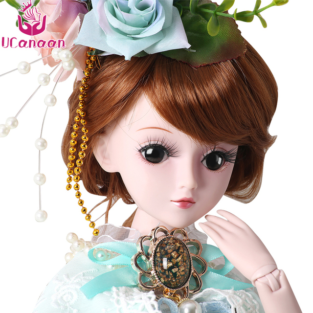 UCanaan 5 Styles 1/3 BJD SD Girls Doll 19 Ball Jointed Toys With All Outfits Makeup Children Dressup DIY Dolls 2