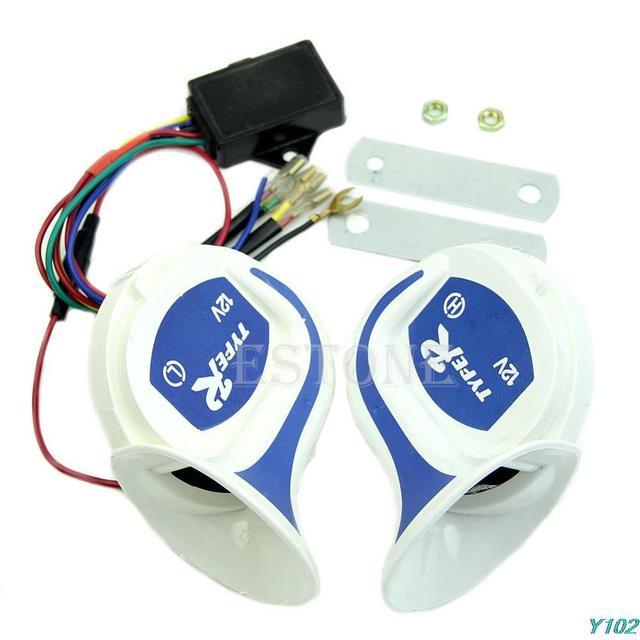 Siren Loud Aire Caracol Cuerno mágico 8 Sonidos Digital Eléctrico 12 V Coche Camión Vehículo