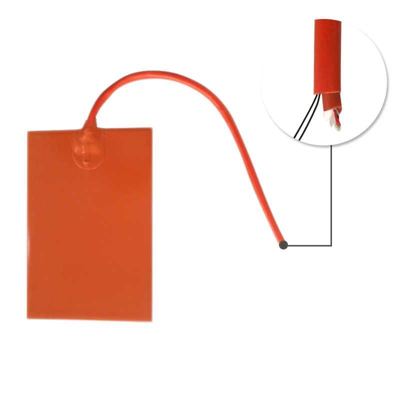 200x200 мм 12 В 200 Вт PSA назад и NTC 100 K Термистор Гибкая силиконовая резина грелки нагреватель