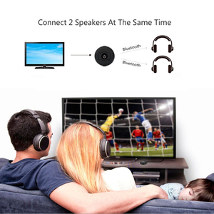 Image 2 - Multi point AUX 3.55mm Wireless Audio Bluetooth Transmitter Music Stereo Adapter For TV Smart PC DVD MP3 Bluetooth 4.0 double