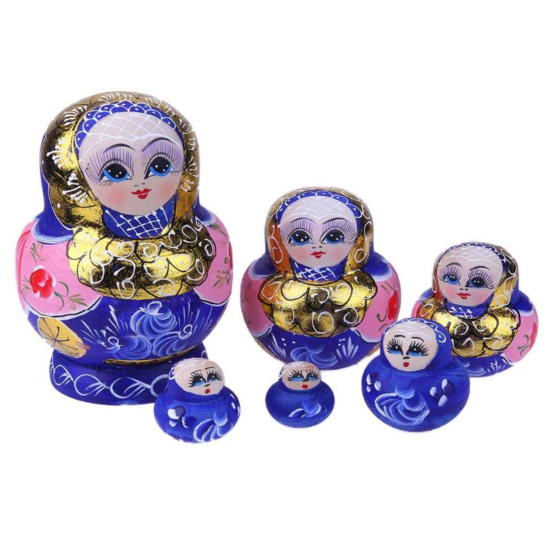 Ten Layers Big Belly Bright Golden Matryoshka Doll Nesting Wooden Toy Handmade Kids Toy
