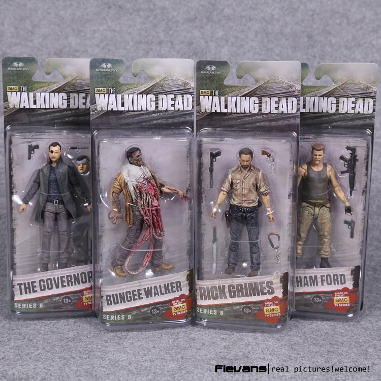 AMC TV Series The Walking Dead Abraham Ford Bungee Walker Rick Grimes The Governor PVC Action Figure Collectible Model Toy