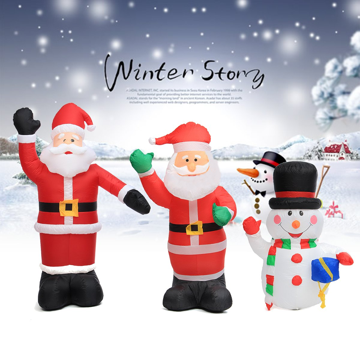 120cm/180 cm/240cm Air Inflatable Santa Claus Snowman Outdoor Airblown Christmas Decoration Figure Kids Classic Children Toys air shipping christmas archway airblown animated inflatable gingerbread house with led lights for yard decoration