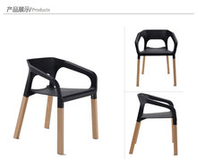 Fashion dining chair,wooden office chair,living room furniture,wood+ plastic furniture,Colors chair bar chair(China)