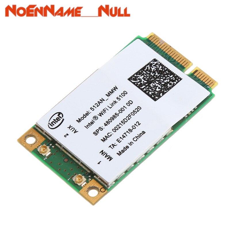 Network Card wifi adapter 2.4/5GHz 300M Mini PCI-E Wireless WLAN Card For Link Intel 5100 WIFI 512AN_MMW dropshipping