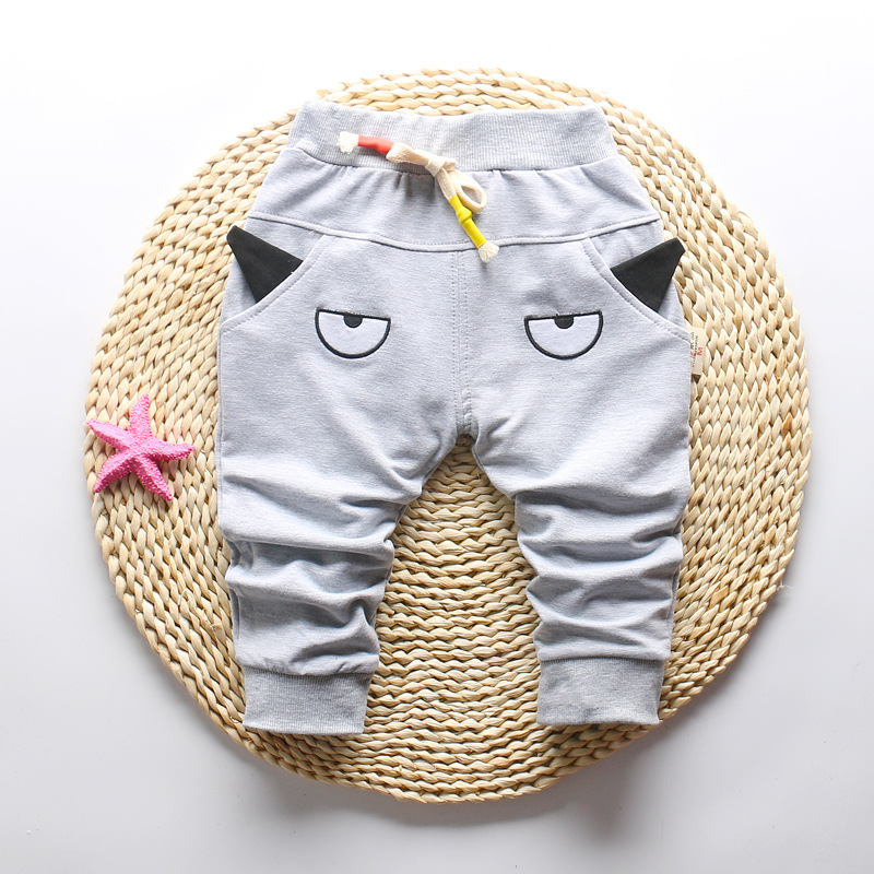 DIIMUU 1-3T Autumn Fashion Boys Girls Pants Children Clothing Toddler Bottoms Kids Elastic Cartoon Cute Casual Long Trousers 6