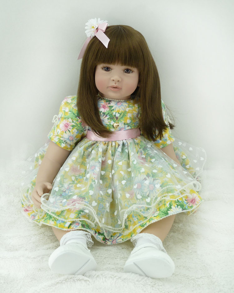 The cute silicone reborn baby dolls accompany sleeping lifelike cute princess toddler doll kid popular christmas new year gifts new 22 55cm silicone reborn baby dolls accompany sleeping princess girl doll toy handmade lifelike christmas gift brinquedos