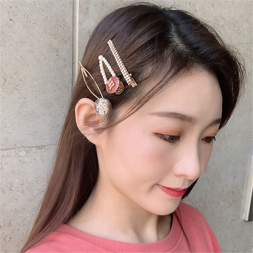 3Pcs/Set Retro Pearl Metal Hair Clip Hairband Comb Bobby Pin Barrette Hairpin Headdress Accessories Beauty Styling Tools