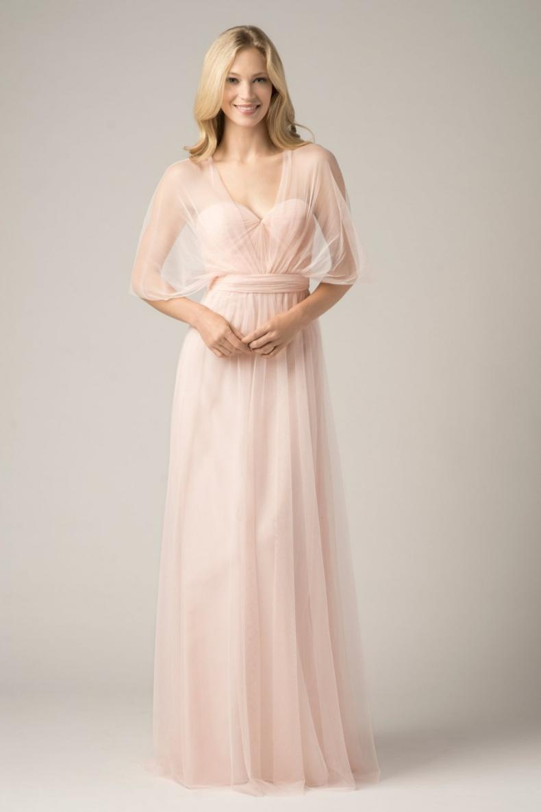 US $48.17 27% OFF|2018 Convertible Bridesmaid Dresses Blush Pink Custom  Made Fashion A Line Formal Plus Size Junior Bridesmaids Gowns Floor  Length-in ...