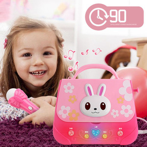 New Microphone Music Lighting Storage Bag Animal Music Backpack Early Education With Microphone Children Beautiful Birthday Gift