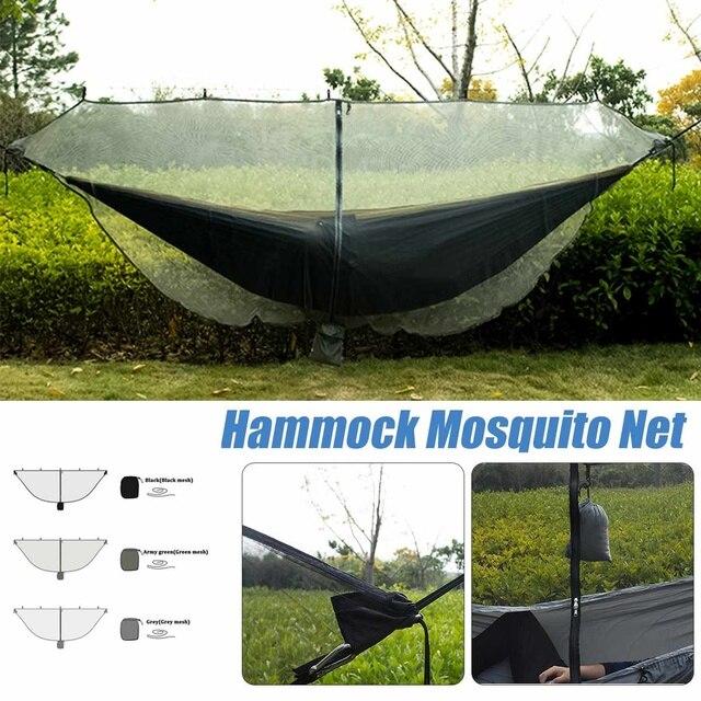 Portátil 1-2 Pessoa Hammock com Mosquiteiros Quintal Ao Ar Livre Viagem Dupla Mosquito Rede de Mosquito Net Tipo Separado