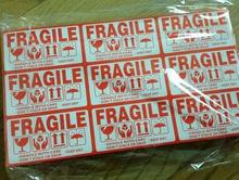 2000pcs FRAGILE stickers goods stacked up gently do not pressure drop international express logistics labels 9x15cm