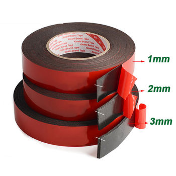 1-3mm thickness Super Strong Double Faced Adhesive foam Tape Adhesive Pad For Mounting Fixing Pad Sticky 25mm 25m super strong 3m double faced adhesive tape foam double sided tape self adhesive pad for mounting fixing pad sticky