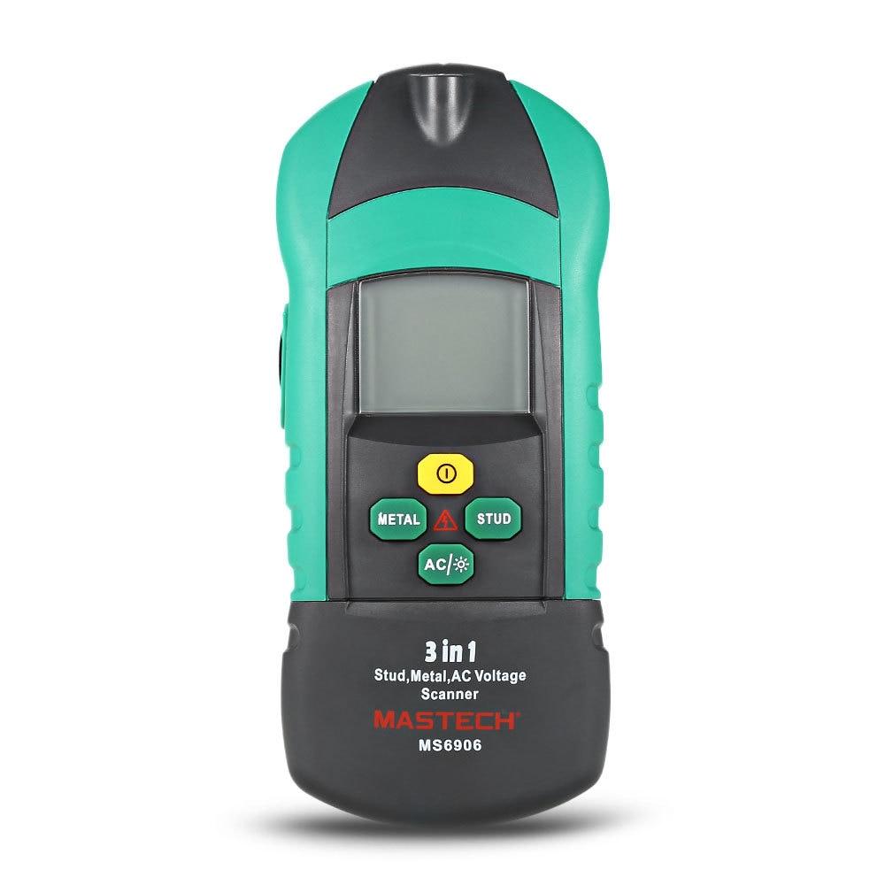 MASTECH MS6906 3 in1 Gauge Multi function Stud Metal AC Voltage Scanner Detector Tester Digital Thickness Gauge Metal Wood Gauge