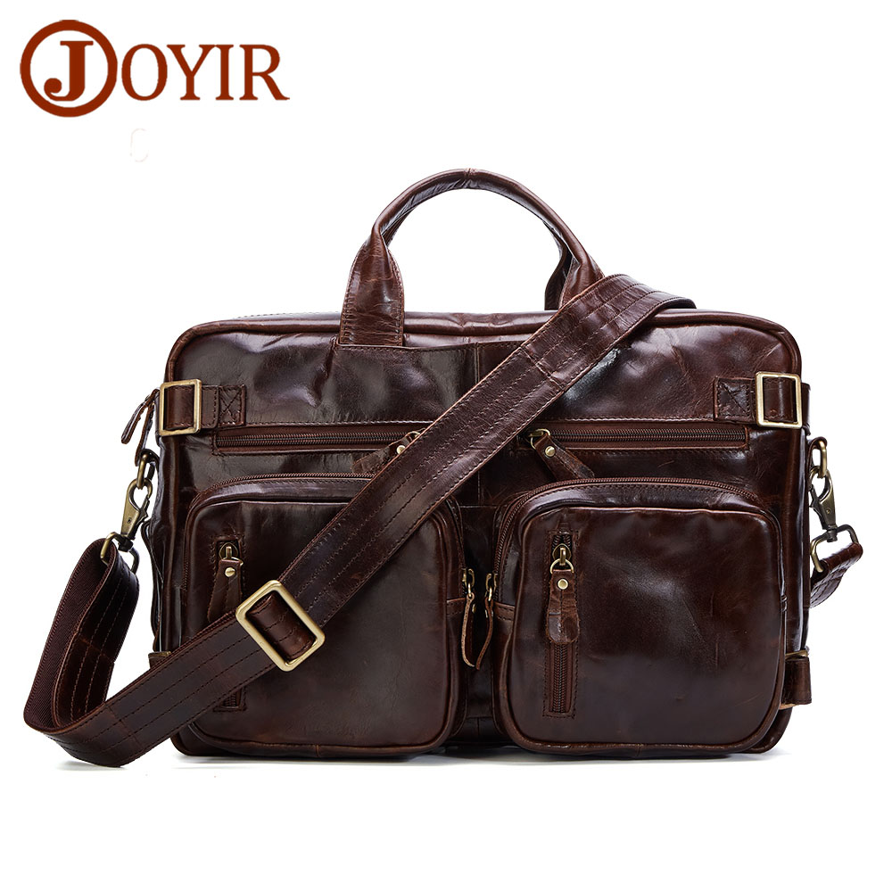 JOYIR Handbag Duffle-Bag Men Travel Genuine-Leather Luggage Weekend Vintage Large Totes