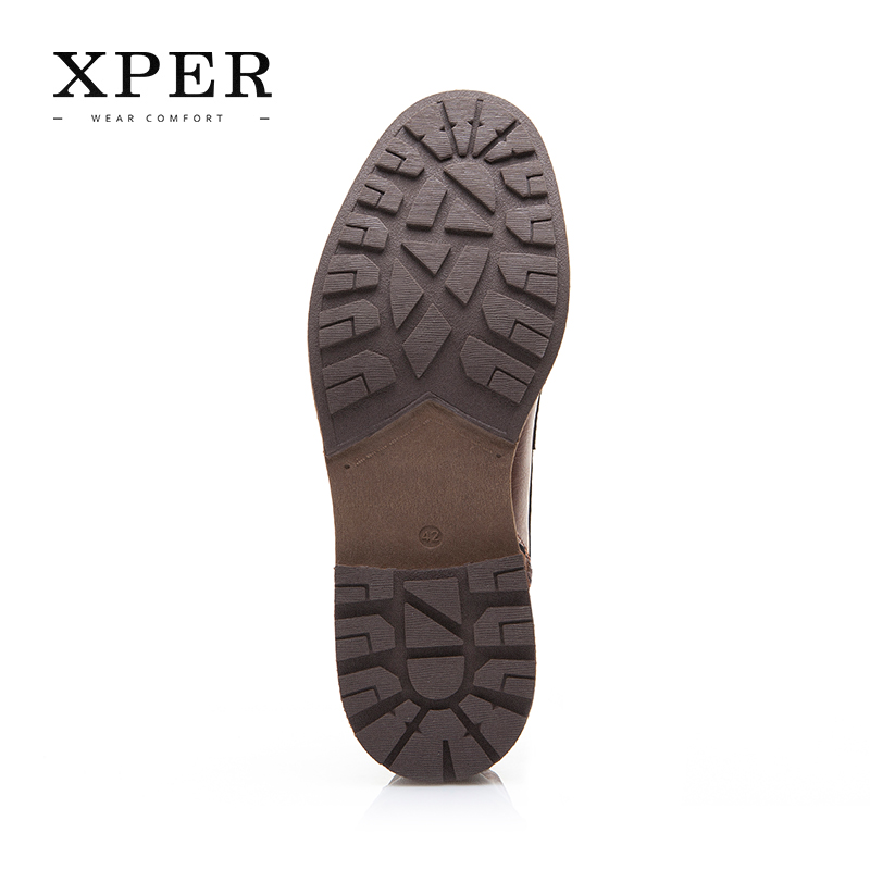 XPER Automne Hiver Hommes Bottes Grande Taille 40-48 Vintage Style Hommes Chaussures Casual Mode Haute-Cut Dentelle-up Chaud Hombre # XHY12504BR - 6