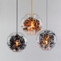 Modern Light LED E27 Pendent Lamps Dinning Room Glass Globe Ball Hanging Lamp Single Light Restaurant Plant Flower Lamp Fixtures