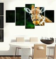 Gedrukt Afrikaanse Giraffen Canvas Schilderij Ingelijste Muur Pictures Voor Woonkamer Hot Cuadros Decoratie Modulaire Foto FA166