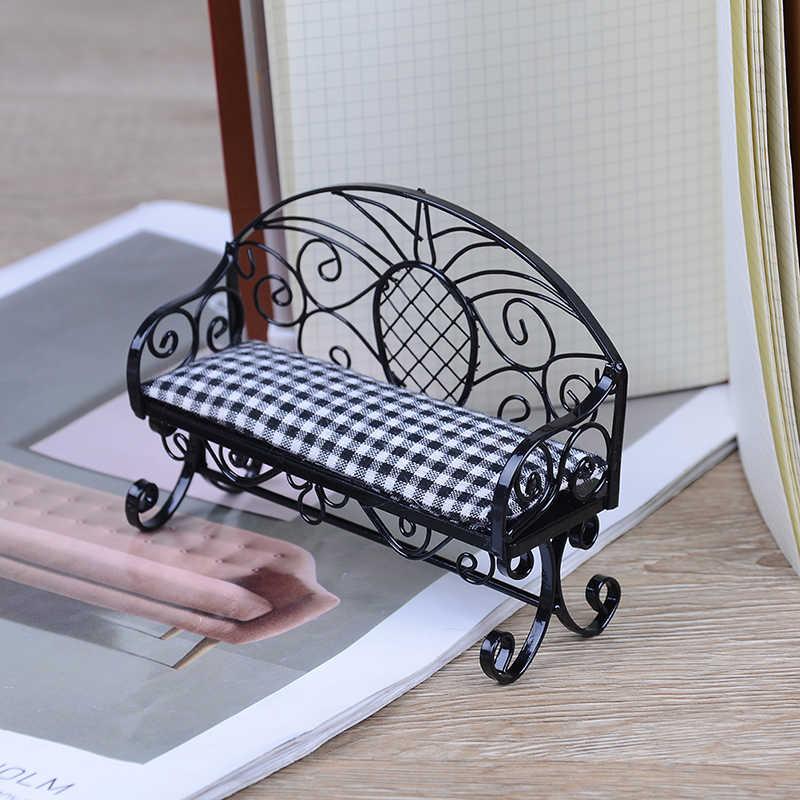 Детская игрушка кукольная мебель моделирование миниатюрный двойной диван стул мебель игрушки кукольный домик мебель постельные куклы Детская комната