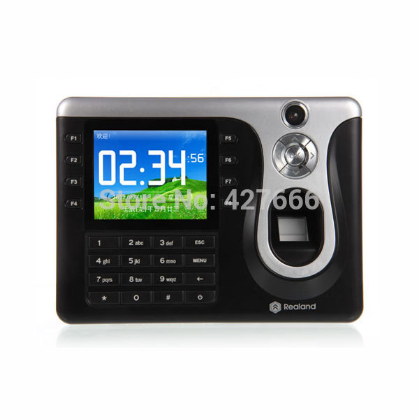 TCP/IP Fingerprint & Punch Card Fingerprint Time Attendance Realand Fingerprint Time Clock A-C101 Realand Time Recorder clock k14 zk biometric fingerprint time attendance system with tcp ip rfid card fingerprint time recorder time clock free shipping