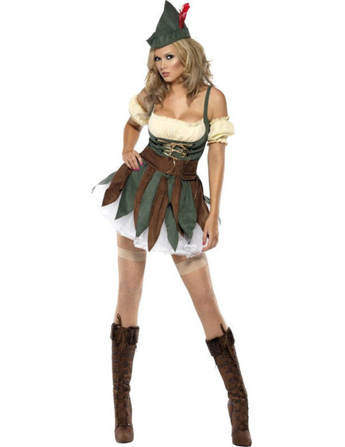2017 Sexy Female Robin Hood Costume Halloween Cosplay Party Fancy Dress  sc 1 st  AliExpress.com & 2017 Sexy Female Robin Hood Costume Halloween Cosplay Party Fancy ...