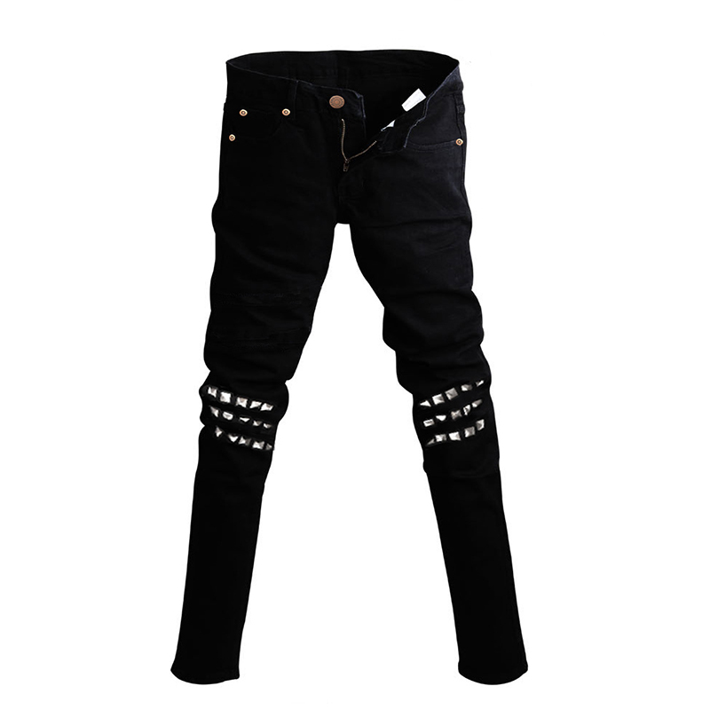 Aliexpress.com : Buy Male Cool Black Jeans Punk Denim Pants Trend ...