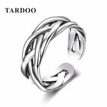 Tardoo Ajustable Tamaño Popular 925 Tejer Nudo de Plata Esterlina Anillos para Las Mujeres y de Los Hombres de la Marca de Joyería Fina