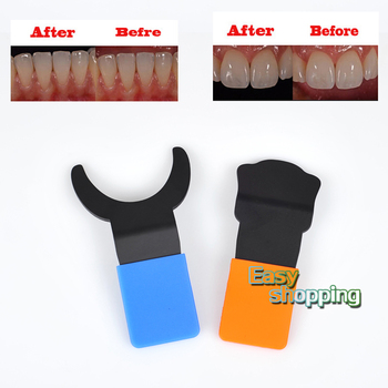 2Pcs Dental Silicone Contraster Oral Black Background Board Photography