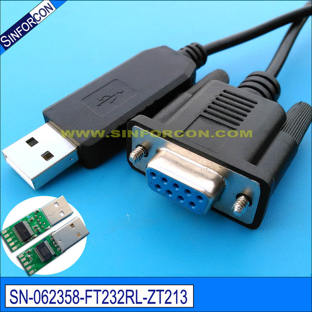 Cruz USB Cable serie DB9 FTDI ft232r USB RS232 Null modem cable ...