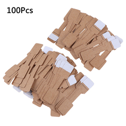 50/100Pcs Quadrate Blank Price Tags Necklace Ring Labels Paper Stickers Paper Jewelry Display Card Labels Hangtag
