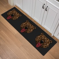 Cartoon Horror Animal Print Kitchen Carpet Living Room Corridor Bathroom Entrance Decorative Door Mat Non slip Floor Mat 46x150