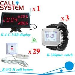 1 K-4-C-USB wyświetlacz odbiornik 3 nadgarstka pager 29 brzęczyk dzwon do szpitala pielęgniarki wywołanie systemu dzwon bezprzewodowy
