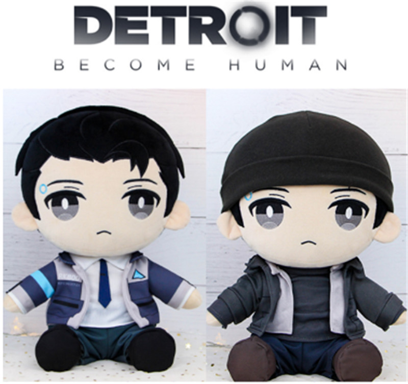 Become Human Dbh Connor Rk800 Plush Stuffed Pillow Doll Cushion Plushie Toy Dress Up Clothes Hat Cute Gift Game Cosplay Perfect In Workmanship Novelty & Special Use Candid Detroit